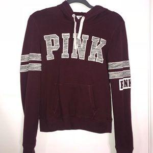 Maroon PINK Victoria Secret Sweatshirt